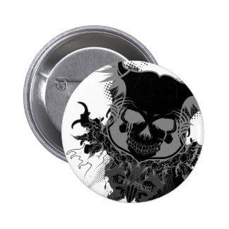 Skull Gear Pinback Buttons
