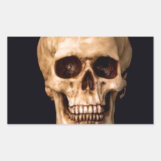 Skull get ahead rectangular sticker