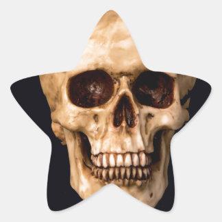 Skull get ahead star sticker