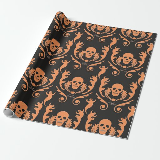 Damask wrapping paper cheap
