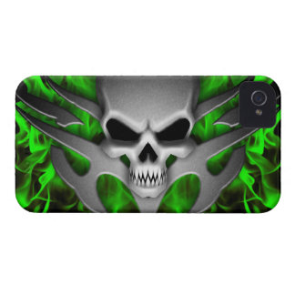 Skull Ghoul - Green Case-Mate iPhone 4 Cases