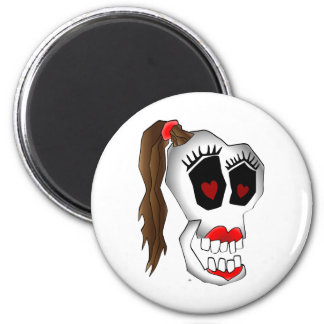skull girl-1 magnet
