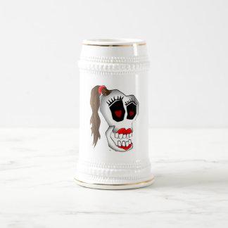 skull girl-1 coffee mug