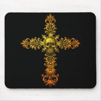 Skull Gold Cross mousepad
