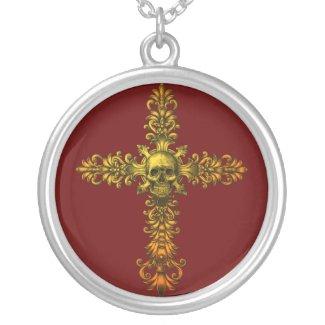 Skull Gold Cross necklace