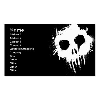 Skull Gothic / Grunge Business Card 3