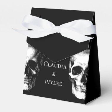 Skull Gothic Halloween Wedding Favor Boxes