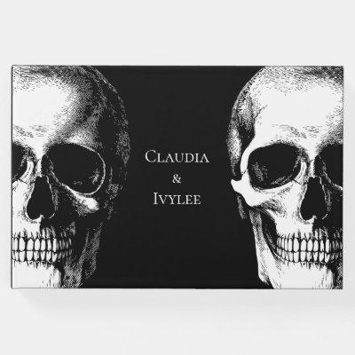 Skull Gothic Halloween Wedding Guest Book