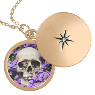 Skull - Gothic/necklace Gold Plated Necklace