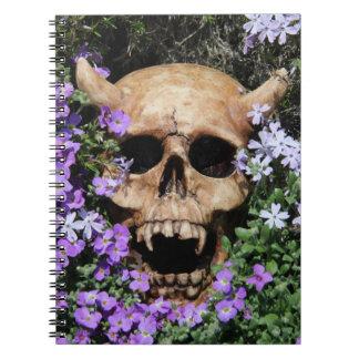 Skull Gothic/notebook Notebook