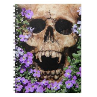 Skull Gothic/notebook Spiral Notebook