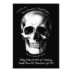 Skull Gothic Wedding Invitation