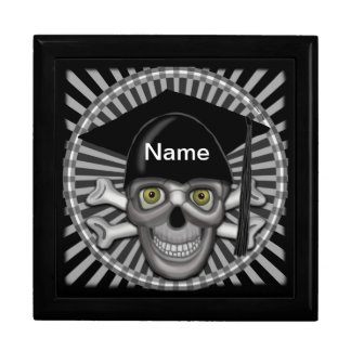 Skull Grad Custom Name Gift Box