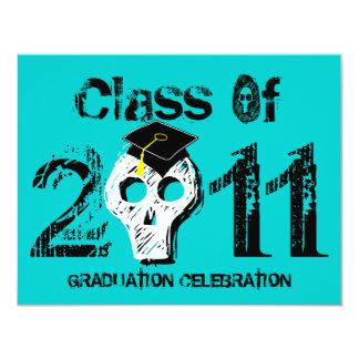 Skull Graduation Class of 2011 Invitation 2