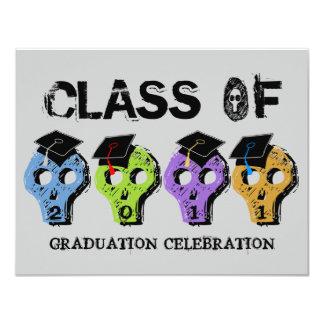 Skull Graduation Class of 2011 Invitation 5