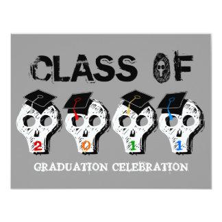 Skull Graduation Class of 2011 Invitation 6