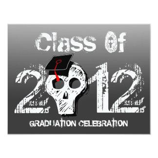 Skull Graduation Invitation Dark Black