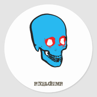 Skull Graphic Colour Classic Round Sticker
