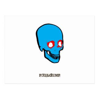 Skull Graphic Colour Postcard