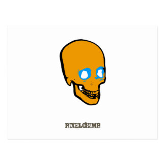 Skull Graphic Orange Postcard