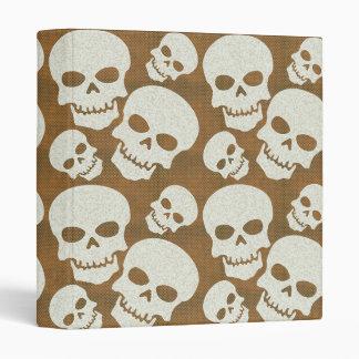 Skull Graphic Pattern Design Binder
