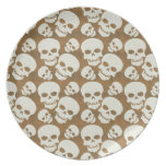 Skull Graphic Pattern Design Party Plate