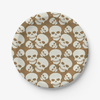 Skull Graphic Pattern Design 7 Inch Paper Plate