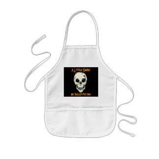 Skull Graveyard Shift Chef Halloween Kids Apron