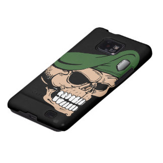 Skull Green Beret Galaxy S2 Covers