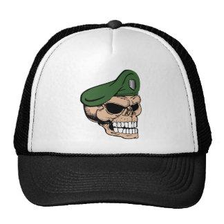 Skull Green Beret Trucker Hat