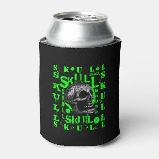 Skull - Green Can Cooler