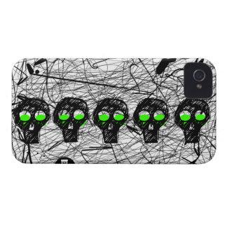 Skull Green Eyes Scratch iPhone 4 Case-Mate Case