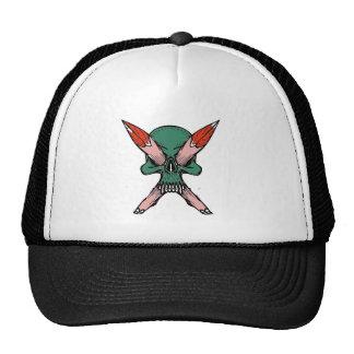 Skull Green Hat