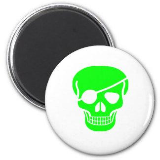 skull Green Magnet
