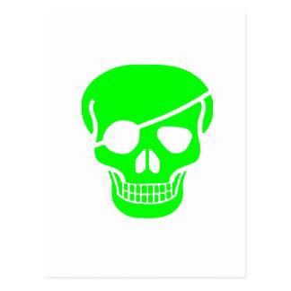 skull Green Postcard
