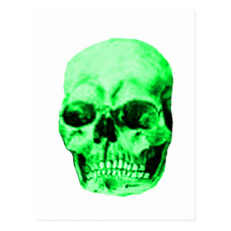 Skull Green The MUSEUM Zazzle Gifts Post Card