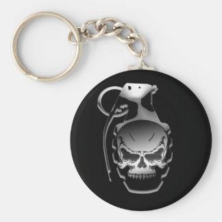 Skull Grenade Keychain