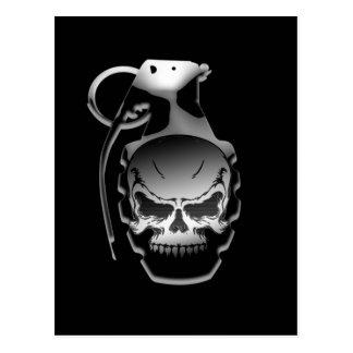Skull Grenade Postcard
