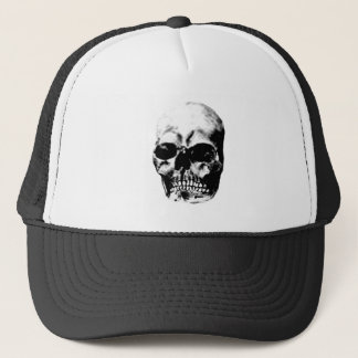 Skull Grey 2 The MUSEUM Zazzle Gifts Trucker Hat