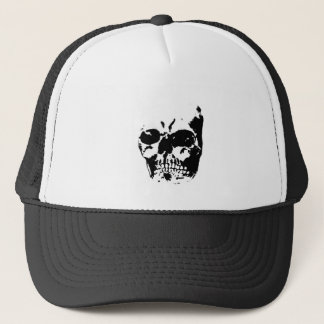 Skull Grey 3 The MUSEUM Zazzle Gifts Trucker Hat