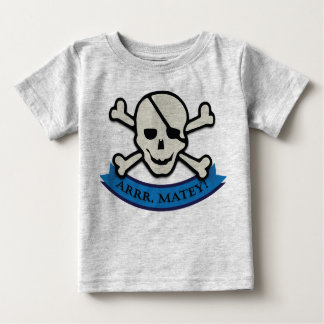 Skull - Grey Baby Fine Jersey T-Shirt