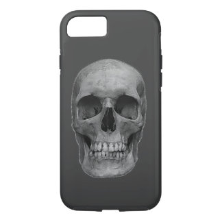 Skull - Grey Heavy Metal Rock Fantasy Pop Art iPhone 7 Case