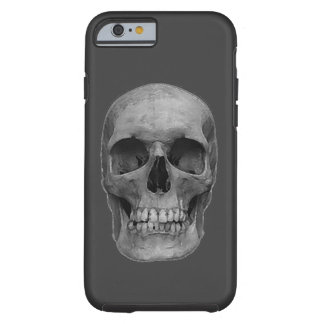 Skull - Grey Heavy Metal Rock Fantasy Pop Art Tough iPhone 6 Case