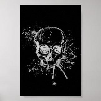 skull - grey poster