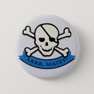 Skull - Grey Standard, 2¼ Inch Round Button