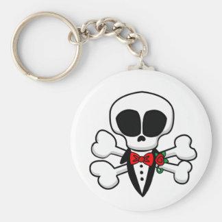 Skull Groom Fully Customizable Basic Round Button Keychain