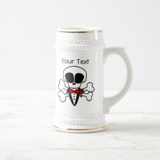 Skull Groom Fully Customizable Beer Stein