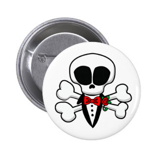 Skull Groom Fully Customizable Pinback Button