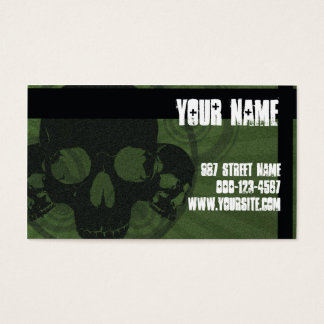 Skull Grunge Business Card