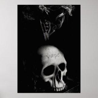 Skull Grunge Cigarette VAPE Premium Poster